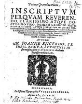 Poema gratulatorium inscrip. ... Georg. Mayr Mon