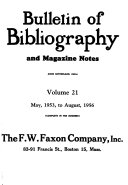 Bulletin of Bibliography and Dramatic Index PDF