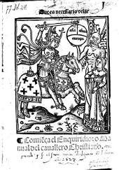 Enquiridio, o Manual del cauallero christiano. - Valencia, Juan Joffre 1528