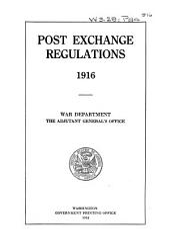 Post Exchange Regulations, 1916