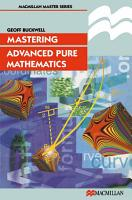 Mastering Advanced Pure Mathematics PDF