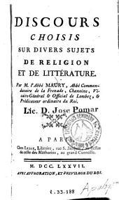 Discours choisis sur divers sujets de religion et de littérature
