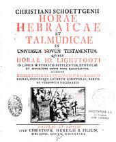 Christiani Schoettgenii Horae hebraicae et talmudicae