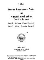 Water Resources Data for Hawaii and Other Pacific Areas