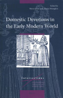 Domestic Devotions in the Early Modern World