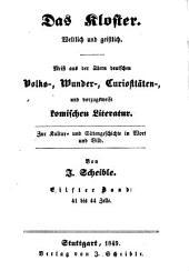 """Die Geschichte vom Faust in Reimen: nach dem einzigen bekannten Exemplar von 1587 in der Königl. Bibliothek zu Kopenhagen ; Die deutschen Volksbücher von Faust und Wagner ; und die Historien von den Zauberern Baco, Zyto, Bruder Rausch und vielen andern ; auch vierter Band von """"Doctor Johann Faust"""""""