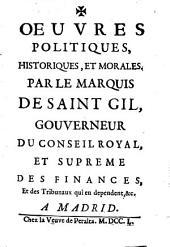 Oeuvres politiques, historiques, et morales