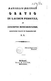 Danielis Heinsii Oratio in laudem pediculi, ad conscriptos mendicorum patres