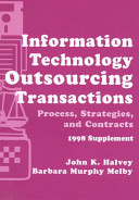 Information Technology Outsourcing Transactions  1997 Supplement PDF