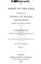 The Spirit of the East: Illustrated in a Journal of Travels Through Roumeli During an Eventful Period, Volume 1