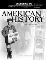 American History   Teacher Guide PDF