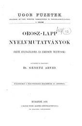 Orosz-Lapp nyelvmutatványok: Máté evangélioma és eredeti textusok