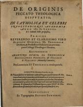 De originis peccato theologica disputatio