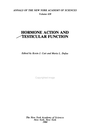 Hormone Action and Testicular Function