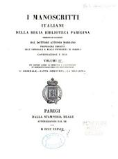 I manoscritti italiani della Regia Biblioteca parigina: Volume 2