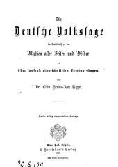 Die Deutsche Volkssage im Herhaltnik zu den Mythen ... von Dr. Otto Henne am Rhyn