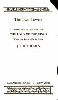 The Lord of the Rings part two the Two Towers PDF