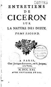 Entretiens de Cicéron sur la nature des dieux