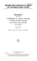 Discussion Draft Legislation to Address Law and Order in Indian Country PDF