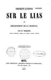 Observations sur le lias du département de la Moselle