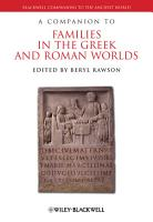 A Companion to Families in the Greek and Roman Worlds PDF