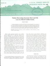 Timber harvesting increases deer and elk use of a mixed conifer forest