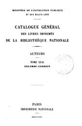 Catalogue général des livres imprimés de la Bibliothèque nationale: Auteurs, Volume31