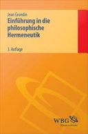 Einf  hrung in die philosophische Hermeneutik PDF