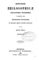 Institutiones philosophicae PDF