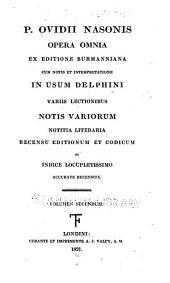 P. Ovidii Nasonis Opera omnia: Volume 2