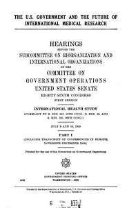 The U S  Government and the Future of International Medical Research PDF