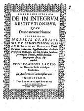 Assertiones iur. de in integrum restitutionibus