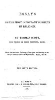Essays on the Most Important Subjects in Religion PDF