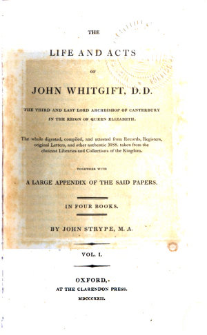 The life   acts of John Whitgift  1822