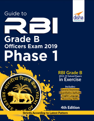 Guide to RBI Grade B Officers Phase I Exam 2020   4th Edition PDF