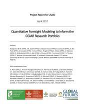 Quantitative foresight modeling to inform the CGIAR research portfolio