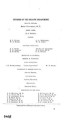 Report of the health officer of the District of Columbia  1890 91 PDF