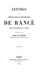 Lettres recueillies et publiees par B. Gonod