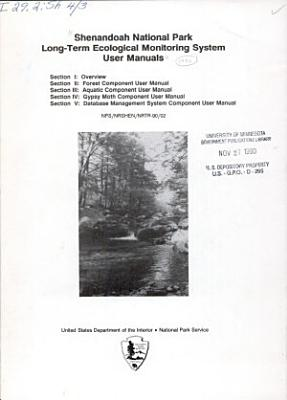 Shenandoah National Park Long term Ecological Monitoring System User Manuals PDF