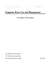Irrigation water use and management: an Interagency Task Force report