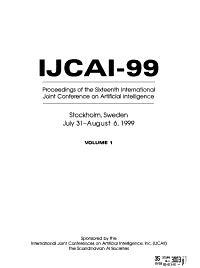 Proceedings of the     International Joint Conference on Artificial Intelligence PDF