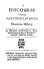 A Discourse Concerning Sanchoniathon's Phoenician History