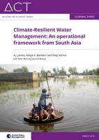 Climate resilient water management PDF