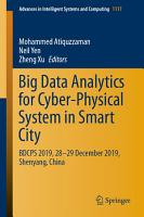 Big Data Analytics for Cyber Physical System in Smart City PDF