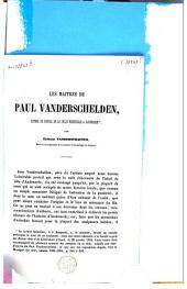 Les maitres de Paul Vanderschelden, auteur du portail de la salle échevinale à Audenaerde