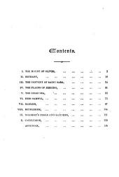 Environs of Jerusalem: Pictorial and Descriptive