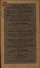 Veilingcatalogus, boeken van Graaf C*** ... [et al.], 27 tot 28 december 1861