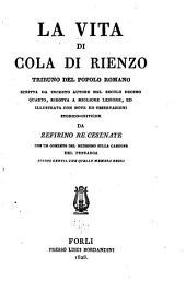 La vita di Cola di Rienzo: tribuno del popolo romano, Volumi 1-2