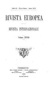 La Rivista europea: Volume 28