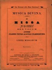 """Missa """"tu es Petrus"""": sex vocum"""